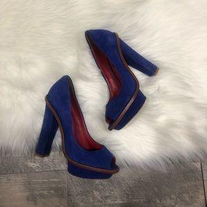 Charles Jourdan suede heels